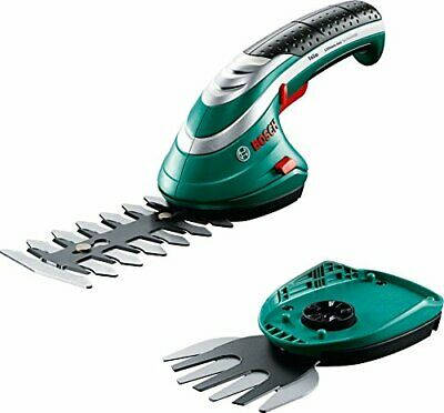 ☺Bosch Cisaille Taille-Haies -Herbes sans-Fil Isio Set Batterie, Chargeur, Lame☺