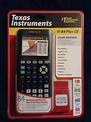 Texas Instrument Ti 84 Plus Ce Graphing Calculator Brand New
