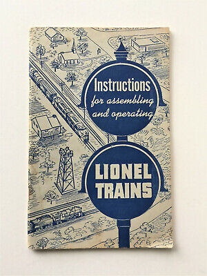 1951 Lionel Trains Instructions for Assembling Operating Railroad Toy Train