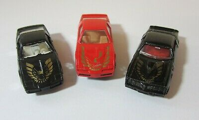 Lot of 3 Vintage 1:64 Die Cast Cars - Unbranded - Hong Kong - FIREBIRDS - USED