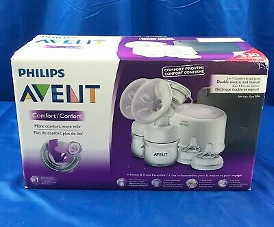 Philips Avent Comfort 2-in-1 Comfort Breast Pump Double Electric and Manual