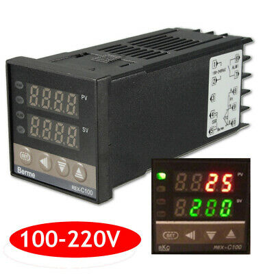Digital 220V PID REX-C100 Temperature Controller + K Thermocouple PID Set CHJ