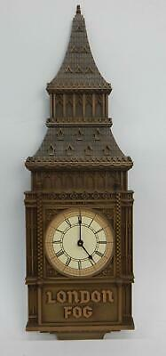 "London Fog Large Big Ben Advertising 33"" Wall Clock England"
