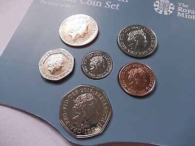2017 Royal Mint Definitive Coin Set 1p 2p 5p 10p 20p 50p £1 pound BUNC