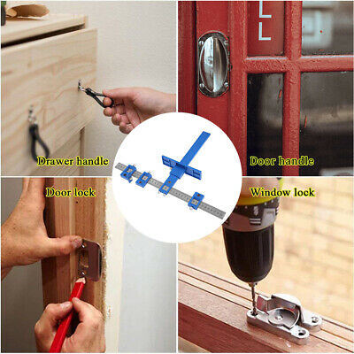 Drill Guide Sleeve Punch Locator Cabinet Hardware Jig Drawer Pull Wood Dowel