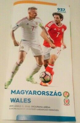 HUNGARY v WALES  11th June 2019 Official Programme