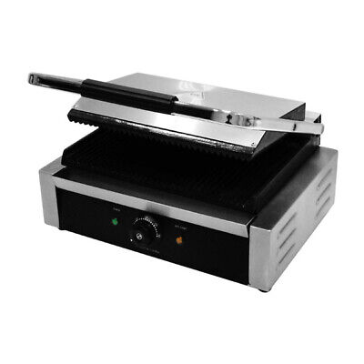 Professional single panini grill. Variable control counter balanced top.