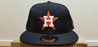 sports shoes acf28 ac7bd MLB Houston Astros New Era Cooperstown Orange Star 59FIFTY Fitted Cap Hat 7  1 8