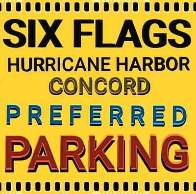 Six Flags Hurricane Harbor Concord Preferred Parking -$25- Save $10 Reserve Now!