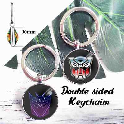 Transformers Autobots Decepticons Double Keychains Key Ring Pendant Key Chains