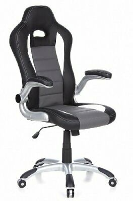 HJH Office, 621710, Gaming chair, Home office chair, RACER SPORT, black, faux ,