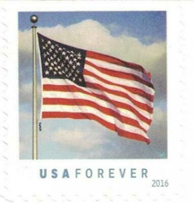 USPS US Flag 2016 Forever Stamps Book of 20