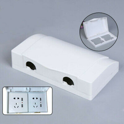 Waterproof Double Sockets Socket Protector Electric Plug Cover Splash Box
