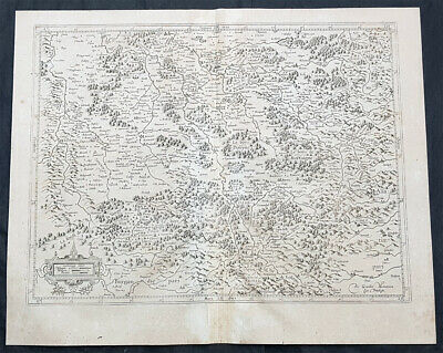1628 Gerard Mercator Antique Map the Southern Lorraine Region of France
