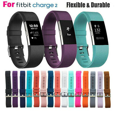 Replacement Silicone Rubber Band Strap Wristband Bracelet For Fitbit CHARGE 2 JU