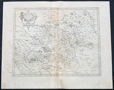 1628 Gerard Mercator Antique Map of the Berry Province of central France