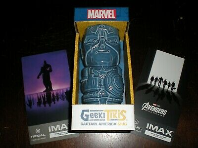 Regal Exclusive Geeki Tiki Captain America w/exclusive Collectible IMAX Tickets