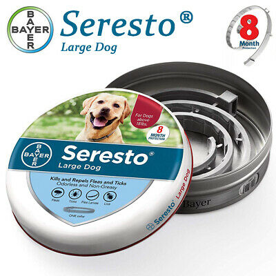 Seresto Flea and Tick Collar for Large Dog Over 18lbs 8 Months Protection,New