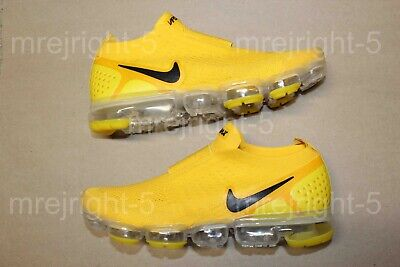 abb783c9c9 Men's Nike Air Vapormax Flyknit Moc 2 Laceless Size 11 Yellow Black Vapor  Max