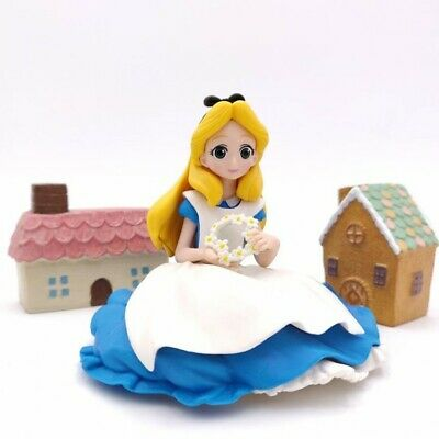 NEW Disney Princess Alice In Wonderland Figures Toys Cake Topper Toppers