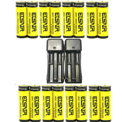 9900mAh Rechargeable 18650 Battery 3.7V Li-ion Battery Intelligent Smart Charger