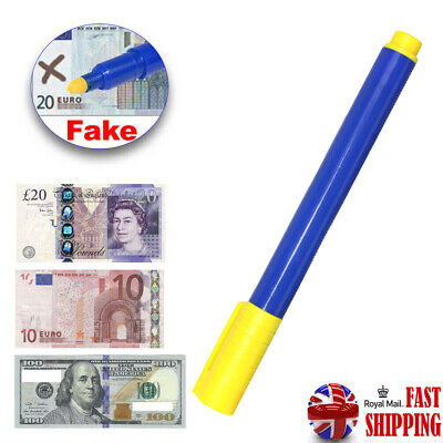 1X Money Tester Checker Pen Bank Note Detector Pens Forged Fake Notes Pen Fraud