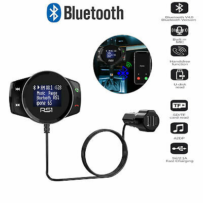 Wireless Bluetooth USB Car Kit LCD SD FM Transmitter MP3 Player Magnet Handsfree