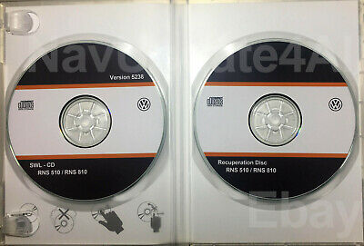 CD-ROM Volkswagen RNS 510 / 810 UPDATE FIRMWARE Version 5238 + Recovery DISC