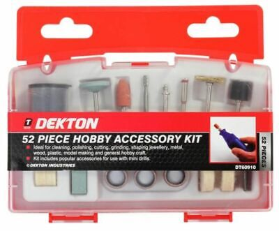 52 Piece Hobby Accessory Kit Craft Buffing Grinding Shaping Jewellery Metal Tool