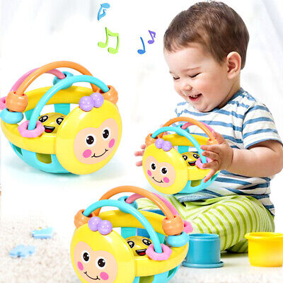 Soft Baby Toy Bell Rattles Ball ToyDevelopment Infant Toys Plastic Hand Bell