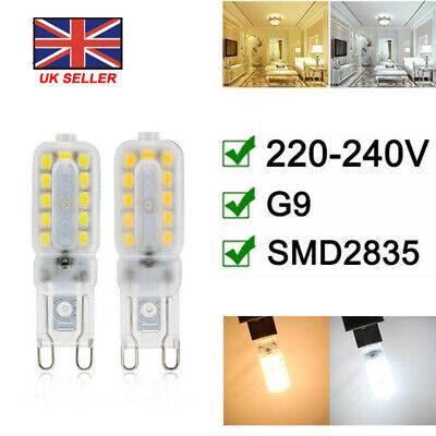 G9 3W LED Corn Lights  Dimmable Capsule Bulb Replace Lamps SMD2835 AC220-240V UK