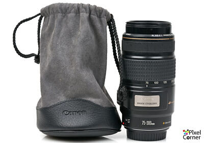 Canon EF 75-300mm  f/4-5.6 Image Stabilizer IS Telephoto zoom lens USM 83101026