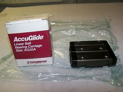 New Thomson Accuglide Cg20Aaan Linear Ball Bearing Carriage Size Ag20A