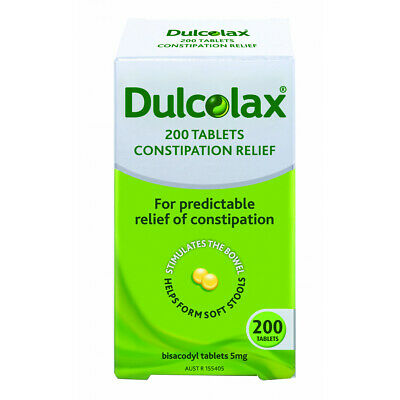 Dulcolax 200 Tablets 5mg Bisacodyl Laxative *Relieves Constipation* NEW