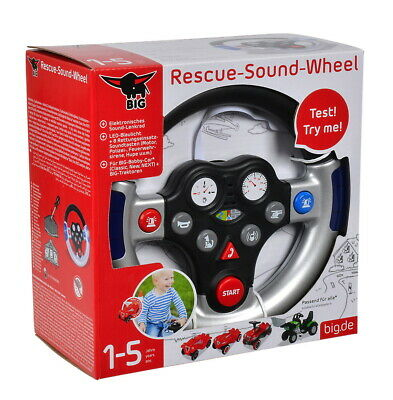 BIG Outdoor Spielzeug Lenkrad Bobby Car Rescue Sound Wheel silber sch. 800056493