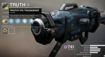 Destiny 2 TRUTH Exotic Rocket Launcher FULL Quest - Recovery PS4