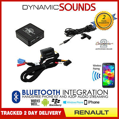 Renault Megane 2000-2008 Bluetooth Adapter Streaming Handsfree Calls CTARNBT003