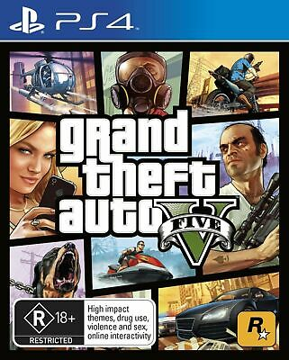 Grand Theft Auto V GTA 5 PS4 Game Playstation 4 BRAND NEW SEALED FREE SHIPPING