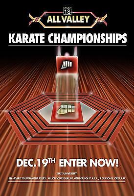 Karate Kid Tournament All Valley POSTER From 1984 Metal Tin Sign Well Pub Dec