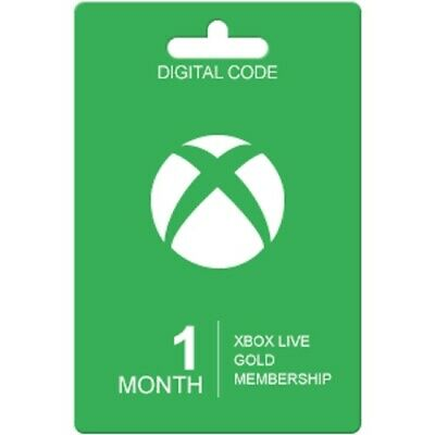Microsoft Xbox Live 1 Month Gold Membership (2x14 Day Trial) FAST EMAIL DELIVERY