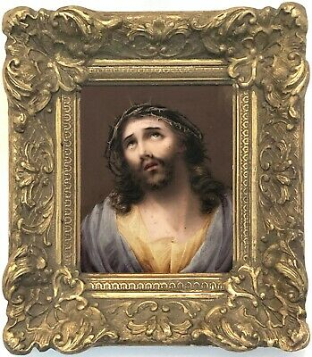 Jesus Christ Antique Old Master Watercolour Painting after Guido Reni (1575-1642