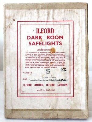 Ilford Photographic Original Darkroom Safelight Glass Filter Empty Box
