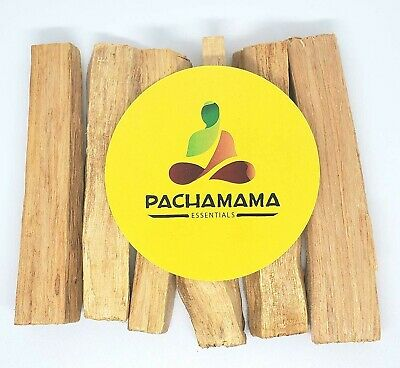6 Stick Lot of Palo Santo Wood (Incense Smudging Cleansing Blessing) Peruvian
