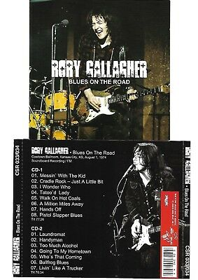 RORY GALLAGHER Blues On The Road 2CD Recorded Live in Kansas C.24-03-74 LIKE NEW