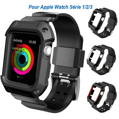 38/42mm Bande Bracelet de Montre + Coque Protective pour Apple Watch Série 1/2/3