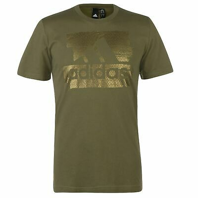 adidas Foil T Shirt Mens Gents Short Sleeve Performance Tee Top Crew Neck