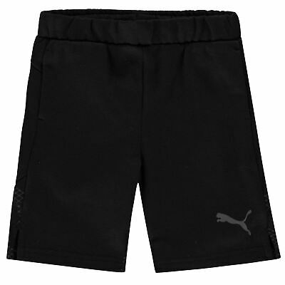 Puma Sweat Shorts Youngster Boys Fleece Pants Trousers Bottoms Stamp Drawstring