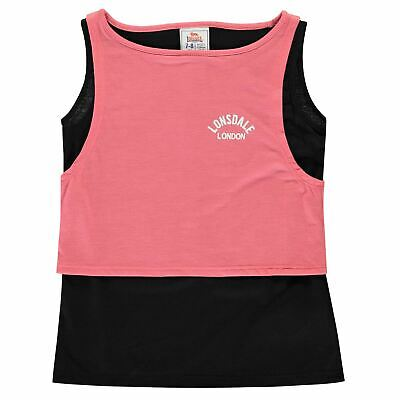 Lonsdale Layer Vest Youngster Girls Tank Top