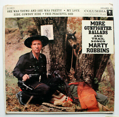 MARTY ROBBINS Country 45rpm EP & Cover More Gunfighter Ballads & Trail Songs #3