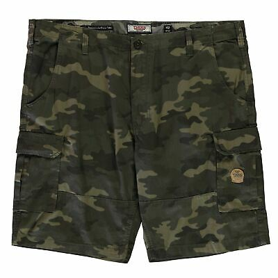 D555 Marty Cargo Shorts Mens Gents Pants Trousers Bottoms Lightweight Cotton Zip
